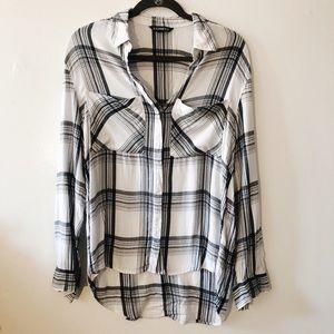 Express plaid button down shirt